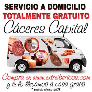 Entrega a domicilio gratis Cáceres Capital para compras mínimas de 30€