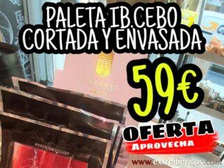 OFERTA Paleta Ibérica de Cebo RH Gourmet cortada y envasada al vacío